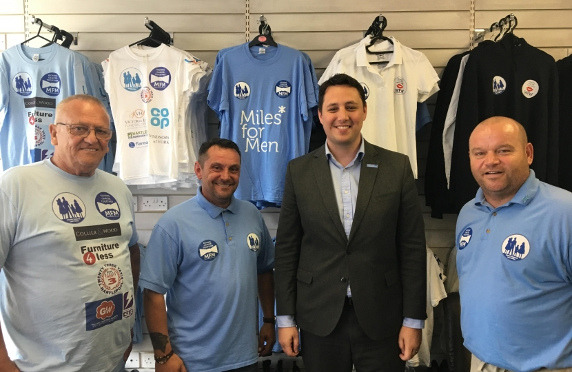 Ben Houchen meets Miles to Men at their new charity shop in Hartlepool