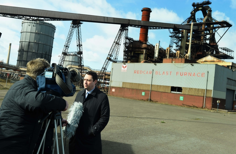 Tees Valley Mayor Ben Houchen making the announcement at the Redcar Blast Furnace