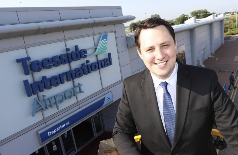 Ben Bouchen Teesside International Airport's new name