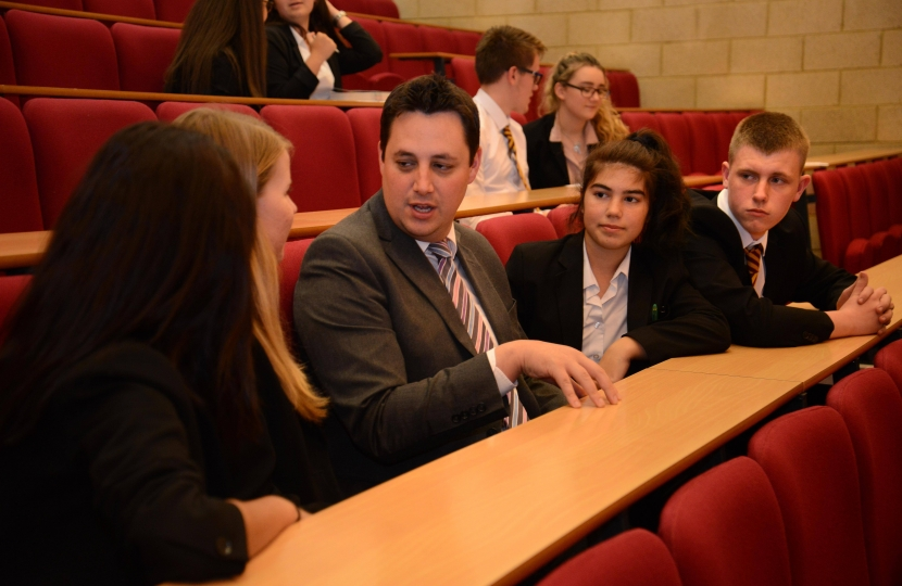 Tees Valley Mayor Ben Houchen speaking to students from the region