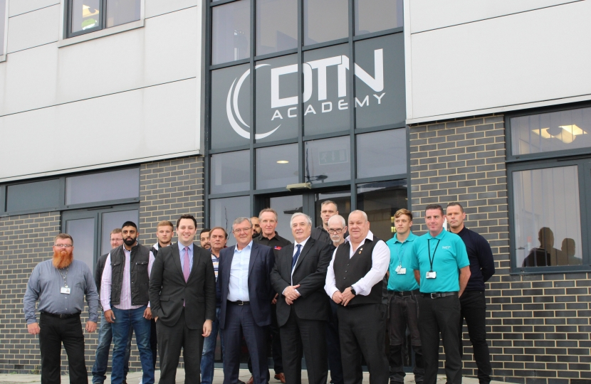 Tees Valley Mayor Ben Houchen at  DTN Academy